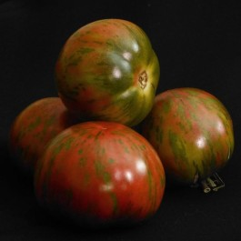 Pink Boar - Lovely port wine colour with striking metallic green stripes. They have dark red interiors and an outrageous flavour that is sweet, rich and juicy.